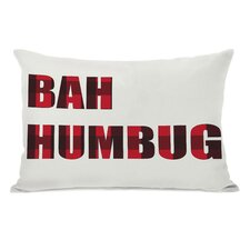 Holiday Bah Humbug Plaid Throw Pillow
