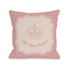 My Little Princess Crown Polka Dots Throw Pillow