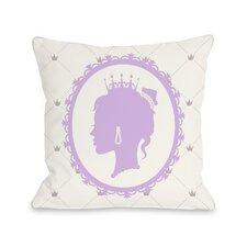 Princess Profile Throw Pillow