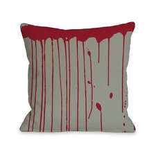 Dripping Blood Throw Pillow