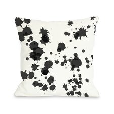 Eva Splatter Throw Pillow