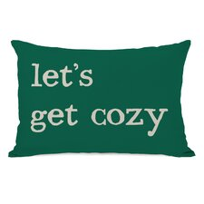 Let's Get Cozy Plaid Lumbar Pillow