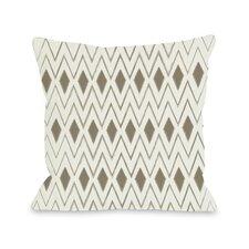Natural Diamonds Geometric Throw Pillow
