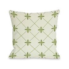 Crisscross Flowers Throw Pillow