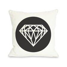 Diamond Circle Throw Pillow