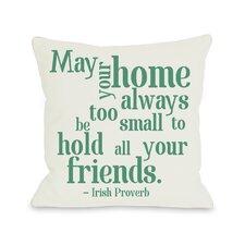 Home Irish Proverb Throw Pillow