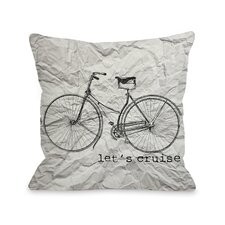 Let's Cruise Paper Texture Throw Pillow