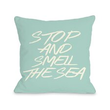 Stop and Smell The Sea Beach Throw Pillow