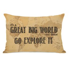 Great World Map Lumbar Pillow