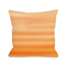 Tangerine Ombre Throw Pillow