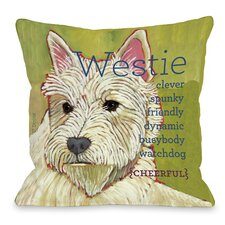 Doggy Décor Westie Throw Pillow