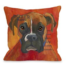 Doggy Décor Boxer Throw Pillow