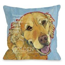 Doggy Décor Golden Retriever Throw Pillow