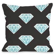 All Over Diamond Throw Pillow