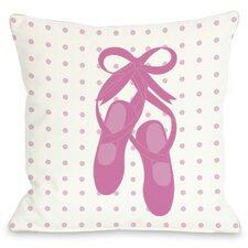 Bella Ballet Slippers Throw Pillow