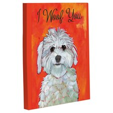 I Woof You Framed Painting Print