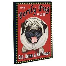 Doggy Decor Portly Pug Graphic Art on Wrapped Canvas