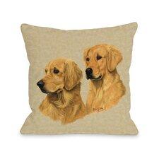 Doggy Décor Golden Retriever Double Throw Pillow
