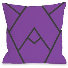 Mountain Peak Indoor/Outdoor Throw Pillow