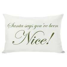 Holiday Naughty or Nice Reversible Lumbar Pillow