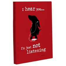Doggy Decor Just Not Listening Graphic Art on Wrapped Canvas