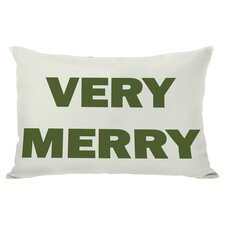 Holiday Very Merry Lumbar Pillow