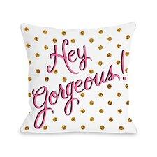 Hello Gorgeous Dots Throw Pillow