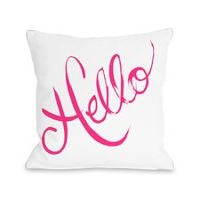 Hello Painted Bows Throw Pillow