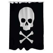 Skull Crossbones Shower Curtain