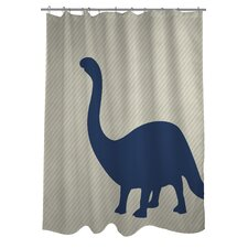 Brontosaurus Stripe Shower Curtain