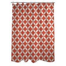 Dahlia Geometric Shower Curtain
