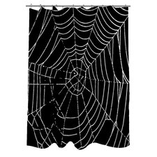 All Over Spider Webs Shower Curtain