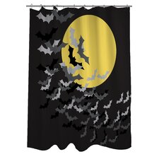 Flock of Bats Moon Shower Curtain