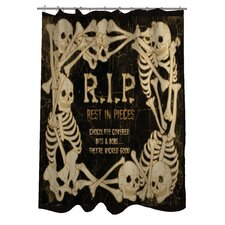 RIP Skeleton Border Shower Curtain