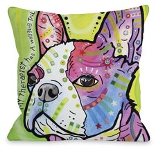 Doggy Décor Pride Text Throw Pillow