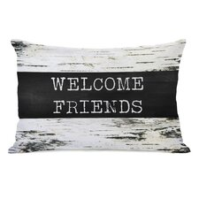 Welcome Friends Birch Lumbar Pillow
