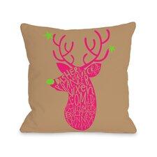 Neon Noel 1 Throw Pillow