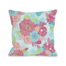 Romantic Florals Throw Pillow