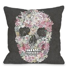 Dia Muertos Skull Flowers Throw Pillow