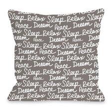 All Over Sleep Words Throw Pillow