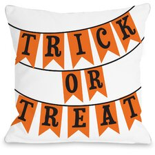 Trick or Treat Banners Throw Pillow