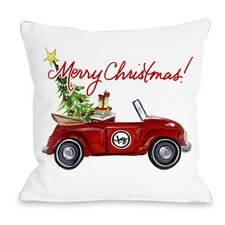 Red Bug Christmas Throw Pillow