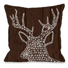 Geo Deer Throw Pillow
