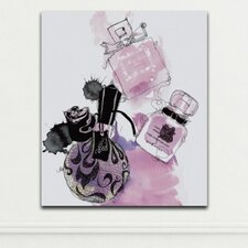 Pink Perfumes by Judit Garcia Talvera Graphic Art on Wrapped Canvas