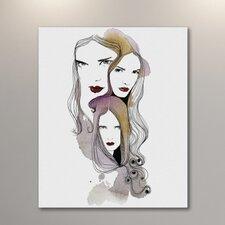 Three Women by Judit Garcia Talvera Painting Print on Wrapped Canvas