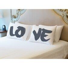 Love Paintbrush Pillowcase (Set of 2)