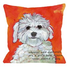 Doggy Décor Girl's Best Friend Throw Pillow