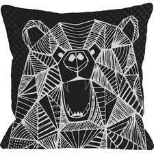 Geo Bear Throw Pillow