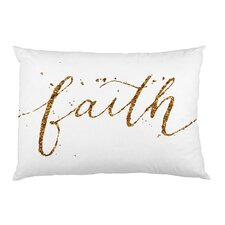 Faith Sparkle Script Pillow Case