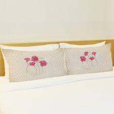 Better Together 2 Piece Kathy Flowers Pillow Case Set